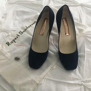 Rupert Sanderson Navy Blue heels - Never worn!